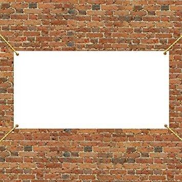 VictoryStore Outdoor Banners - Vinyl Banner Blank, Size 4 x 8, 13 oz Vinyl
