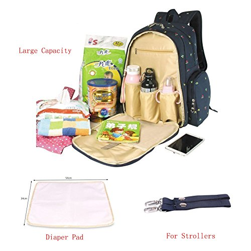 diaper bags qimiaobaby diaper bag smart organizer waterproof travel diaper backpack handbag with. Black Bedroom Furniture Sets. Home Design Ideas