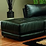 Coaster Kayson Contemporary Black Leather Ottoman For Sale
