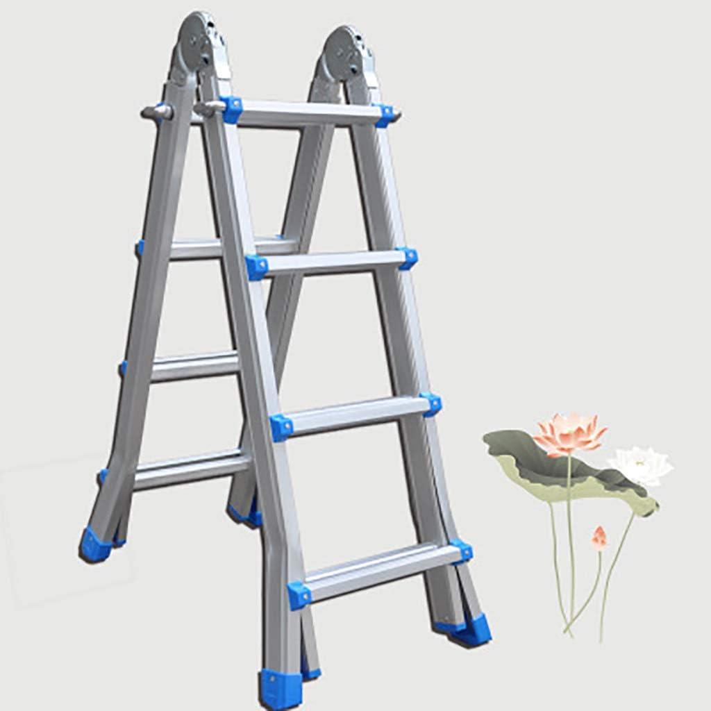 Multifunción Plegables Escalera,aluminio Aleación Escaleras De Mano Portátil Multiusos Escalera Para Inicio Loft Bricolaje-a4 4 * 4 Pasos: Amazon.es: Bricolaje y herramientas