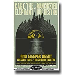 Cage the Elephant Poster - Concert Promo 11 X 17 Melophobia Tour with Manchester Orchestra