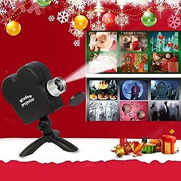 Halloween proyector de Ventana de Navidad, Wonderland ...