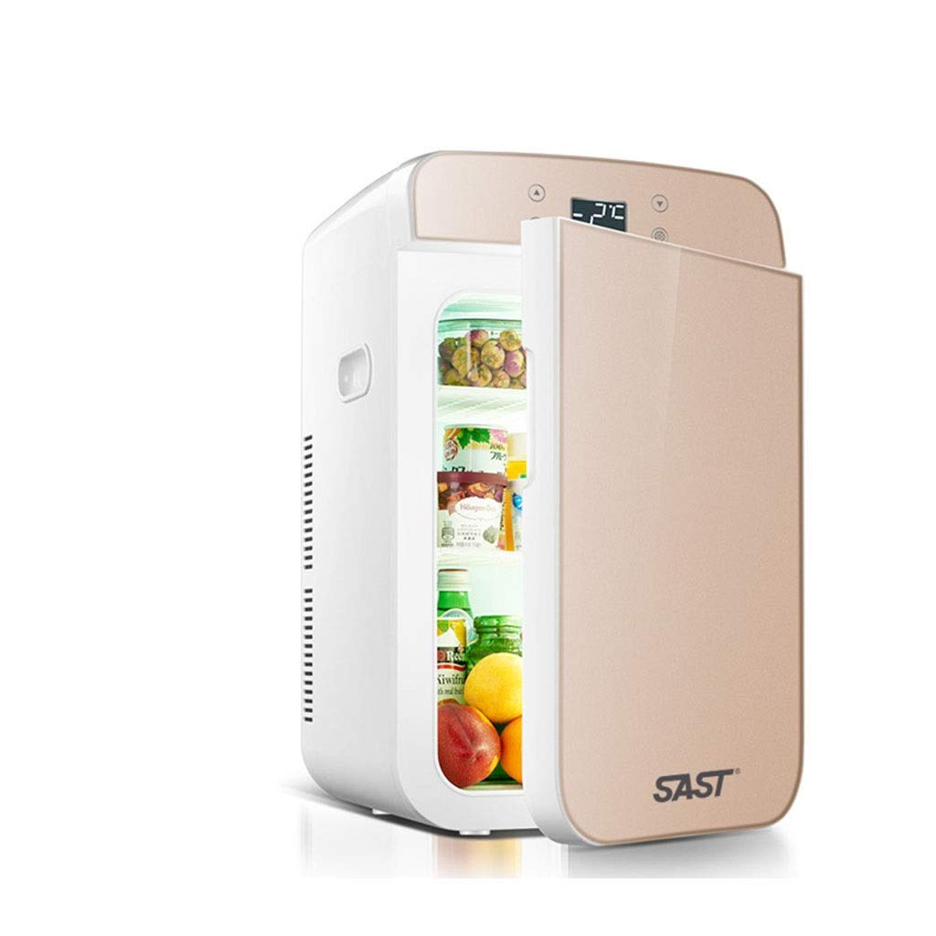 Outdoor Refrigerators Household Portable Refrigerator Insulin Refrigerator Portable Household Medicine Refrigerator Car Travel 25L (Color : Gold, Size : 332743cm)