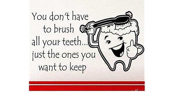 Pegatina pared vinilo escaparates dentistas 1 m x 60 cm. diente ...