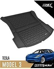 3D MAXpider-M1TL0041309 All-Weather Cargo Liner for Tesla Model 3 2017 2018 2019 2020 2021 Custom Fit Car Floor Mat (Rear Trunk) - Black