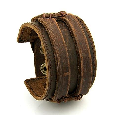 Bracelet de force cuir homme pas cher