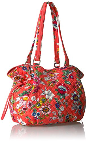 Iconic Glenna Bradley Signature Vera womens Coral Floral Satchel gUSqE