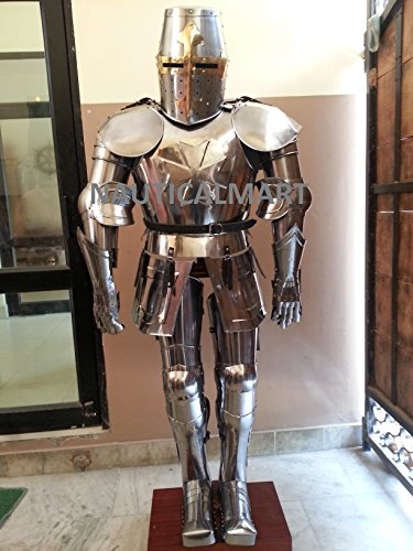 NauticalMart Medieval Knight Crusador Full Suit of Armor Halloween Costume -