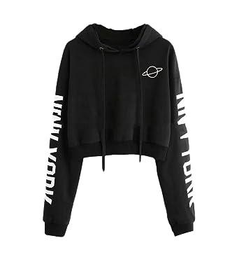XiaoTianXinWomen XTX Womens Hoodie Outdoor Printed Slim Pullover Crop  Sweatshirts at Amazon Women s Clothing store  d24d24fb8