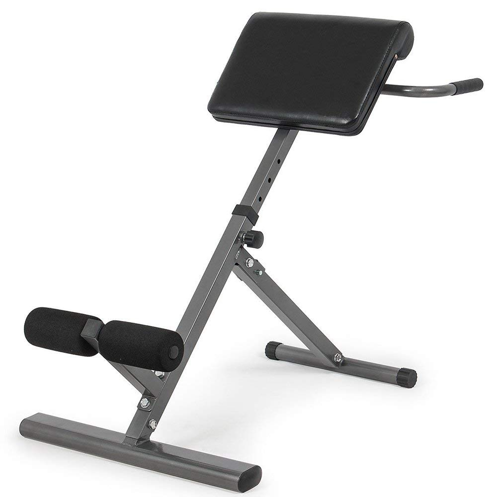 SSLine Hyperextension Bench Adjustable 45 Degree Abdominal Workout Roman Chair Bench for Training, Exercise (180Lbs)