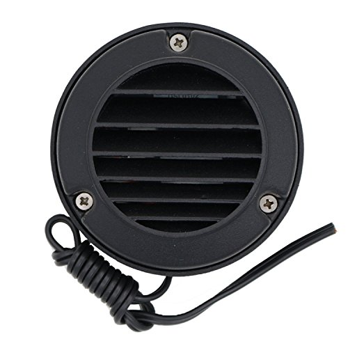 - Deck and Step Light Aluminum Low Voltage Outdoor - Black DSL0102-BK