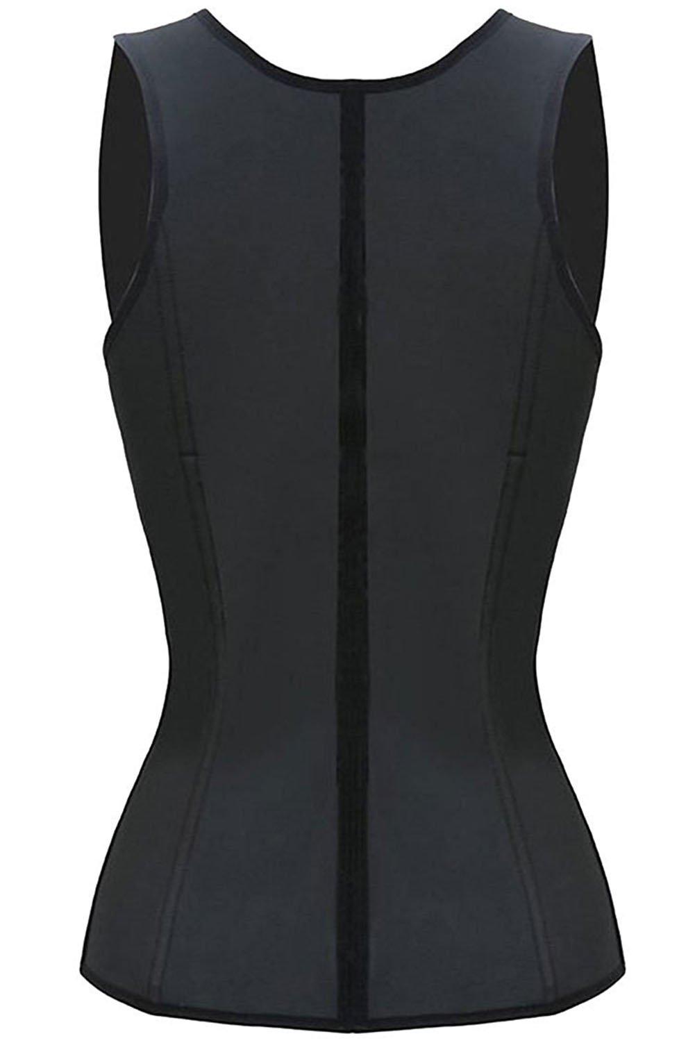 WONDER BEAUTY Women\'s Boned Waist Trainer Underbust Corset Cincher (3XL, Black)