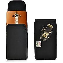 LG G4 Belt Clip Case, Turtleback Vertical LG G4 Holster, Rotating Belt Clip, Black Nylon Pouch, Heavy Duty Made in USA