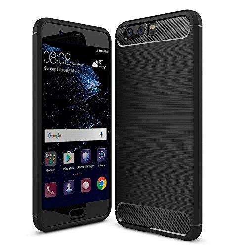 4dee92fef8a PUBAMALL Funda Huawei P10 Plus, Funda de Silicona Suave a Prueba de Golpes  con Cubierta