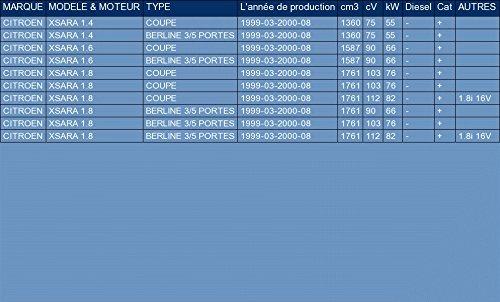 ETS-EXHAUST 5557 Ligne d/échappement Silencieux pour XSARA 1.4 1.6 1.8 COUPE BERLINE 3//5 PORTES 75//90//103//112hp 1999-2000
