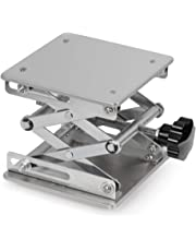 StonyLab Lab Scissors Jack, High Quality 150 x 150mm Stainless Steel Laboratory Support Jack Platform Lab Lift Stand Table, Expandable Lift Height Range from 75mm to 260mm, Support Weight 10KG