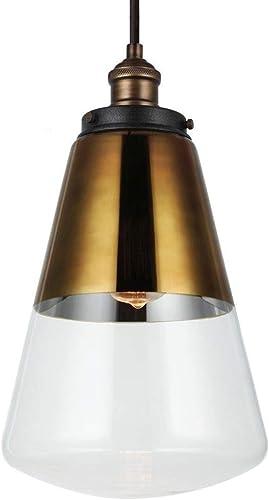 Feiss P1373PAGB DWZ Waveform Glass Pendant Lighting, Brass, 1-Light 10 Dia x 17 H 60watts