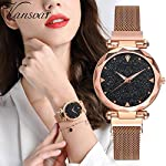 DAMIT Casual Designer Black Dial Combo of Magnet Watch – Pair of 2 – for Girls & Women