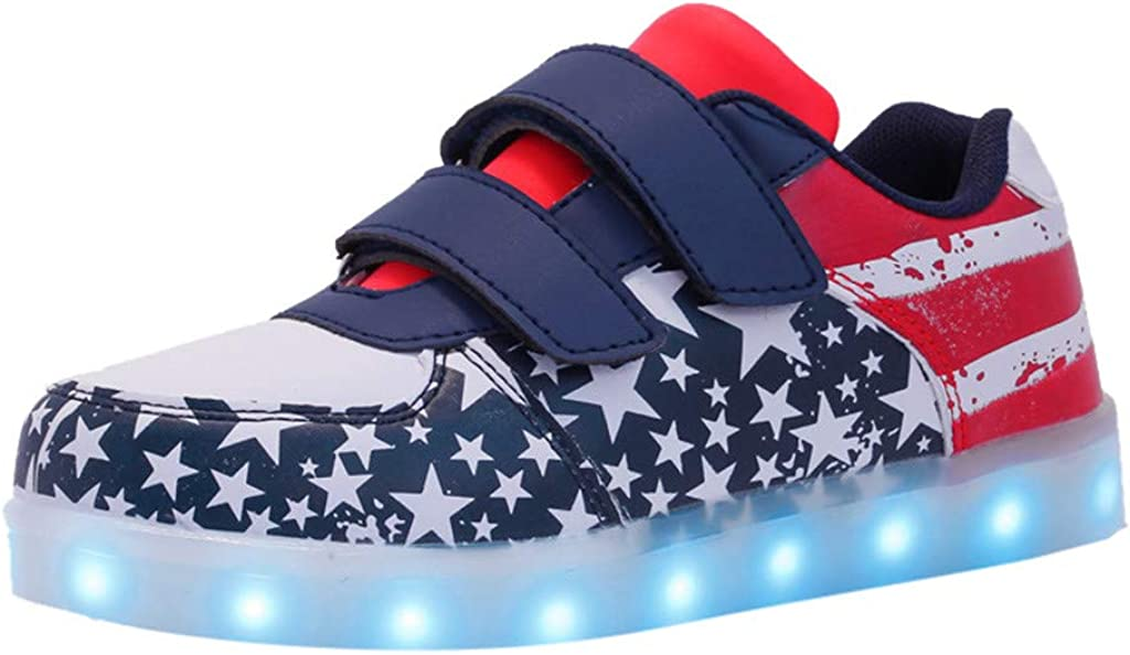 Toddler Kid Sneakers Shoes Light Weigh Breathable Mesh Soft Luminous Outdoor Sport LED Sandals Memela