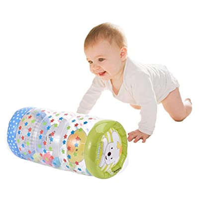 Per Crawling Plastic Training Roller Infant Inflatable Durable Roller Exercise Early Learning for Infants Toddlers Tummy Time Stimulation Growth Activity Play Centers: Toys & Games