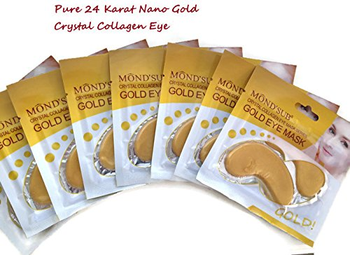 Collagen Gold Eye Mask with nano gold, botanical ingredients and active elements which moisturize Rehydrate and Revive your eye skin. Eight masks By La Beautiful