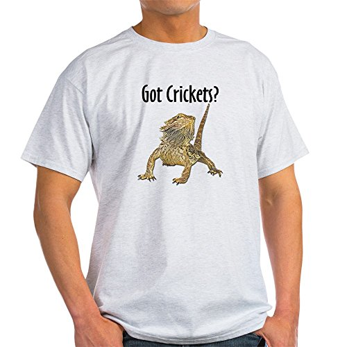 Got Crickets (CafePress - Bearded Dragon Got Crickets Ash Grey T-Shirt - 100% Cotton T-Shirt)