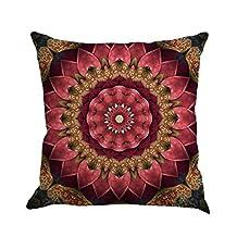 Napoo Bohemia Geometry Print Linen Cushion Cover Throw Pillow Case Sofa Home Decor (E)