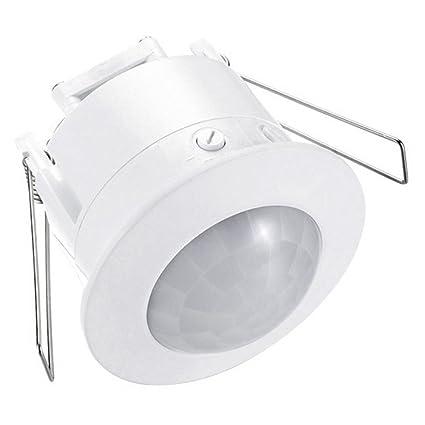 Interruptor de luz de detección de movimiento, 360 grados empotrable, 1200 W