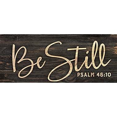 Be Still Script Design 3 x 6 Inch Solid Pine Wood Farmhouse Stick Sign