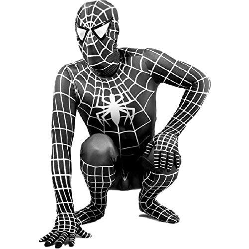EORISH Unisex Spandex one-Piece Spider Adult Kids 3D Tights Suit Costume Cosplay Bodysuit Black