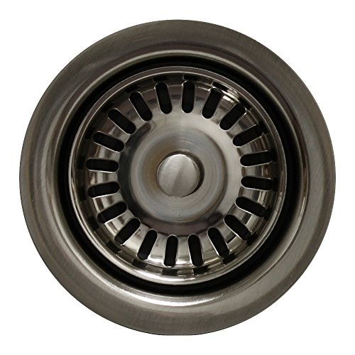 Kitchen Sink Extended Disposer Trim/Basket Strainer for Deep Fireclay Sinks by Whitehaus Collection