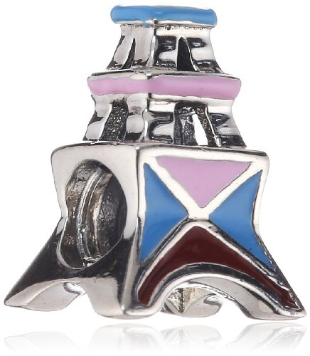 Authentic Chamilia Disney Small World Collection - Paris Bead * Sterling Silver 2020-0660