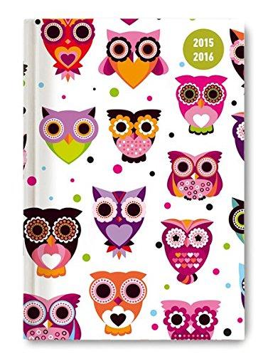 Collegetimer Owls 2015/2016 - Schülerkalender A5 - Day By Day - 352 Seiten