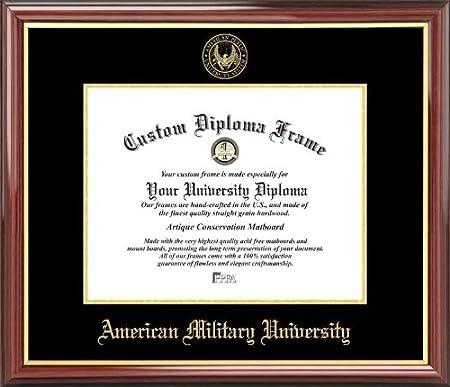 Amazon.com : American Military University - Embossed Seal - Mahogany ...