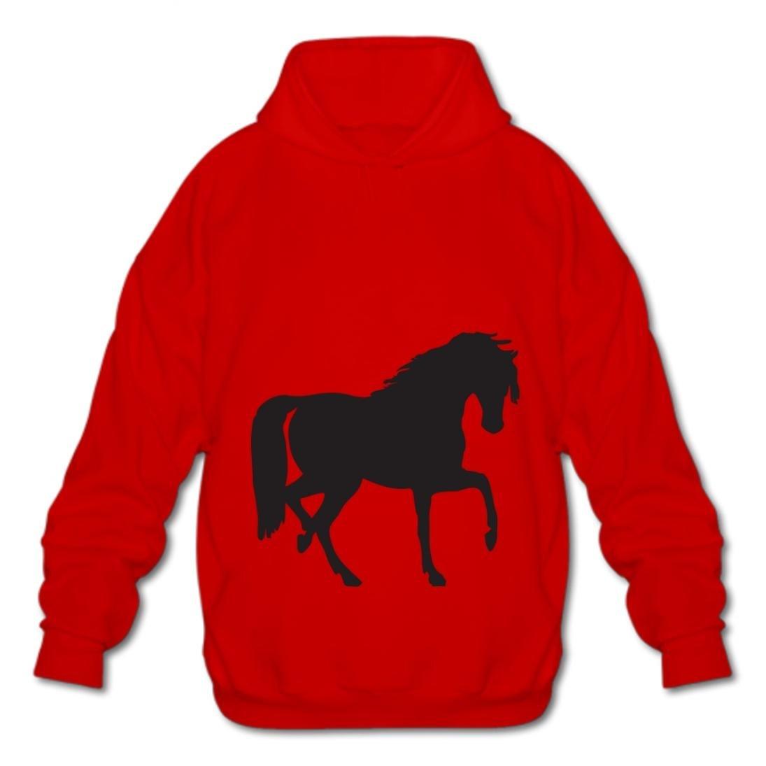 Foxinjishuc Cotton Pullover Hoodies Fashion Hoodies-03 Cartoon Horse LUod Men Style Sweatshirt