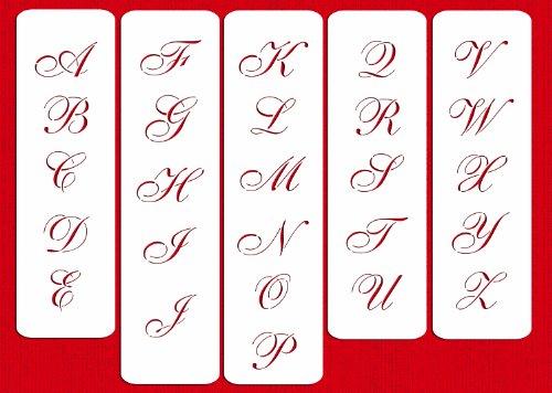 Designer Stencils C110 1.75 Inch Medium Script Cake Stencil, Beige/semi-transparent