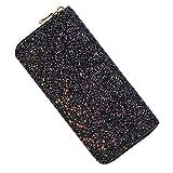 Kukoo Glitter Wallet for Women Shiny Long Phone Clutch Purse Ladies Card Holder