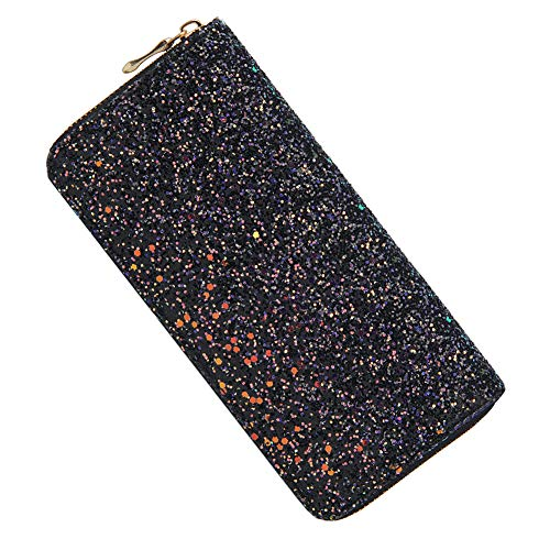 Kukoo Glitter Wallet for Women Shiny Long Phone Clutch Purse Ladies Card Holder