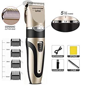 HAHAKEE Professional Hair Clippers, Hair Cutting Machine for Men/Kids/Baby/Barber Grooming Cutter Kit, Rechargeable…