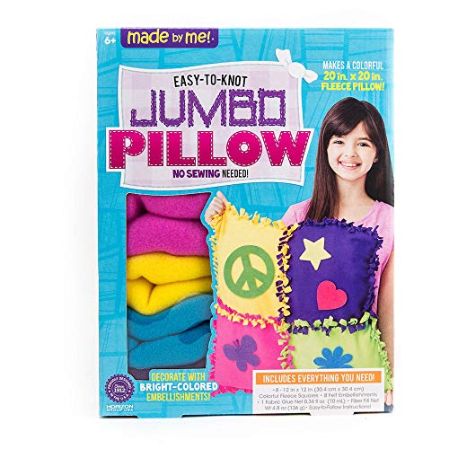 Mini Adventures Made By Me Easy To Knot Jumbo Pillow Kit ()