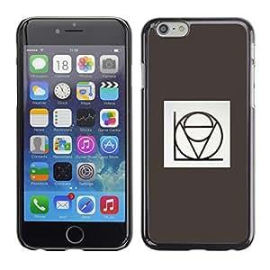 Cubierta de la caja de protección la piel dura para el Apple iPhone 6 (4.7) - love stylistic calligraphy grey minimalist