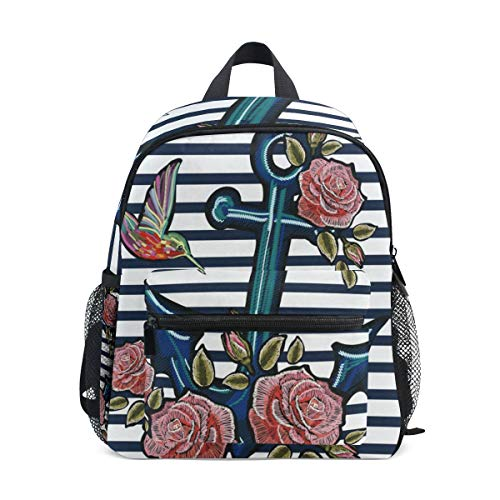 Exotic Anchor Bird School Backpack For Girls Kids Kindergarten School Bags Child Bookbag
