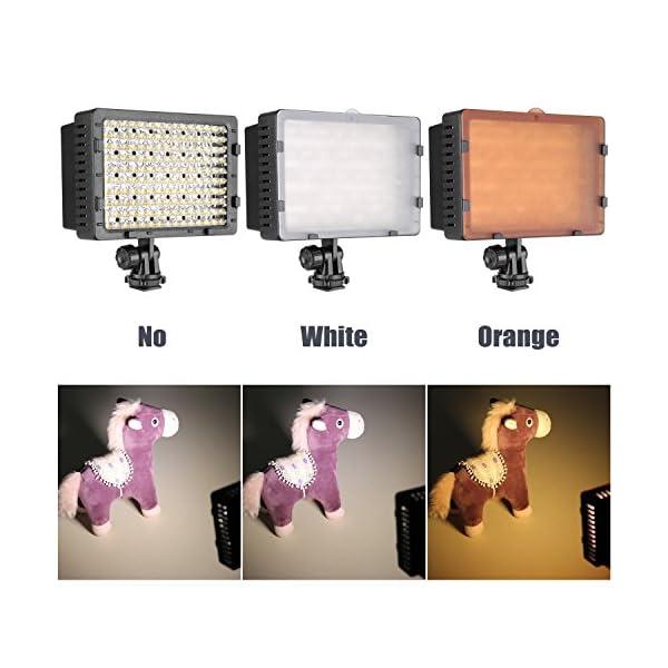 Neewer Pannello LED 160pcs da Potenza Ultra Alta Regolabile per Camera Digitale/Videocamera Video Luce/Luce LED per… 3 spesavip