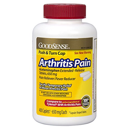 Acetaminophen Extended Release - GoodSense Arthritis Pain Acetaminophen Extended-Release Tablets, 650 Mg, 400 Count