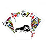 Shrimp Marine Life Black Illustration Poker Playing Card Tabletop Board Game Gift
