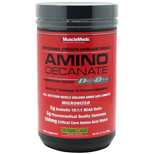 MuscleMeds Amino Decanate Professional Strength Amino Acid Formula Citrus Lime 12 7 oz 360 g