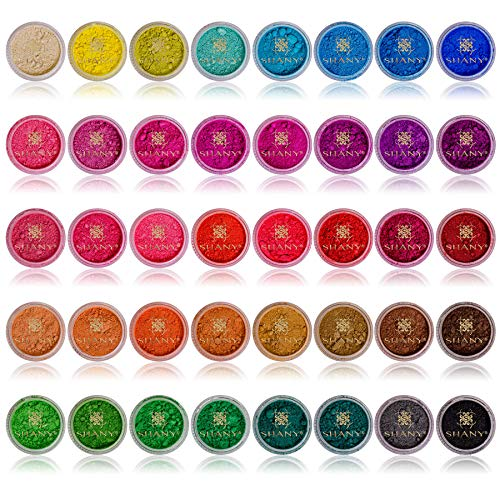 SHANY Cosmetics Mineral Eyeshadow Loose Powder, Favorite Colors, 40 Count - Minerals Loose Shadow