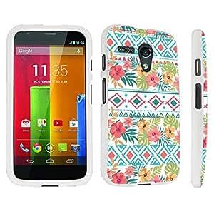 DuroCase ? Motorola Moto G 2013 1st Gen. Hard Case White - (Tribal Floral)