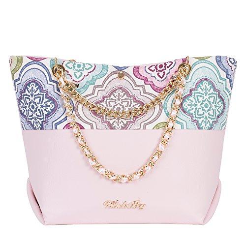 Wonderbag Borsa donna modello Corfù, rosa a fantasia