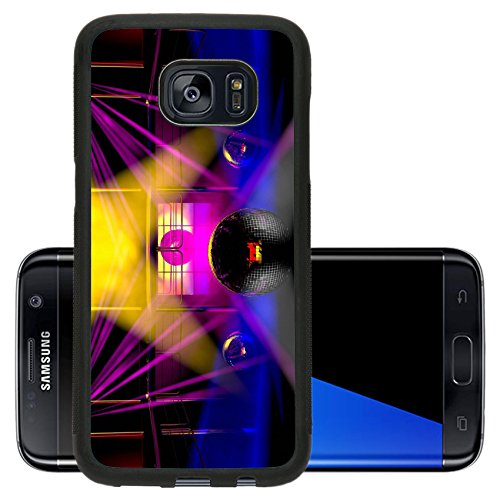 Liili Premium Samsung Galaxy S7 Edge Aluminum Backplate Bumper Snap Case Night club interior with colorful spot lasers and shining mirror disco balls artistic show 28767413